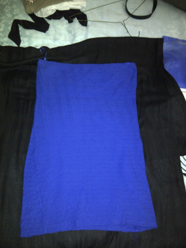 Blue Strapless Dress item 4