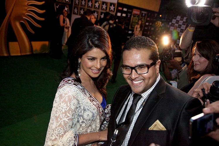 Daniel with Priyanka Chopra