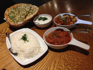 Chicken Karahi, Masala Fish and condiments