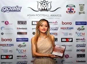 Manisha Tailor at the Asian Football Awards
