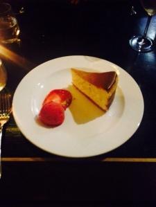 Vanilla cheesecake - strand dining