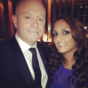 With Ross Kemp