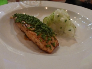 Salmon with Fennel at Senor Ceviche