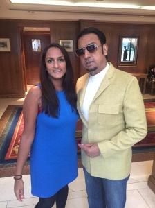 Priya Mulji with Gulshan Grover