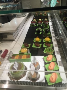 Dessert counter at Pan De Vie