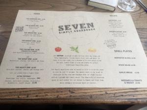 Seven restaurants menu