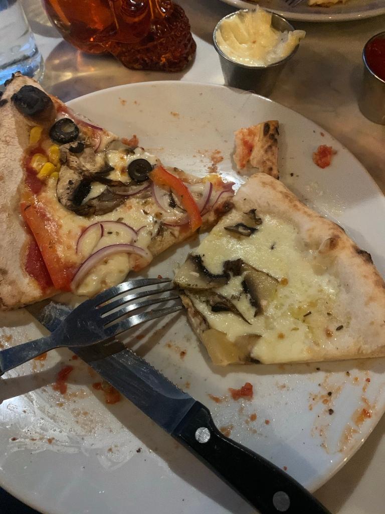 Mixed veg and truffle & mushroom pizza moto pizza
